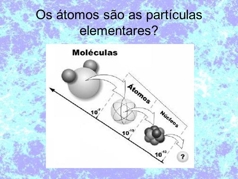 Os átomos são as partículas elementares
