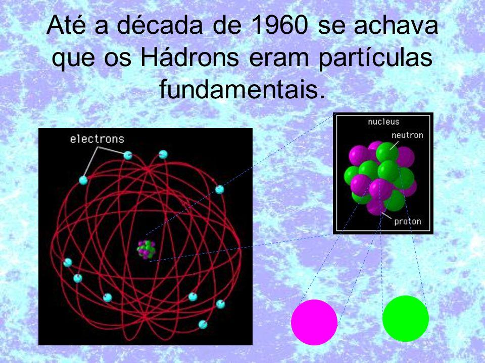 Até a década de 1960 se achava que os Hádrons eram partículas fundamentais.