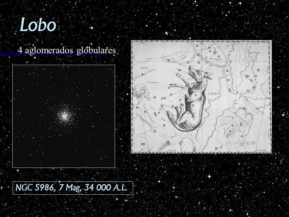 Lobo 4 aglomerados globulares NGC 5986, 7 Mag, 34 000 A.L.