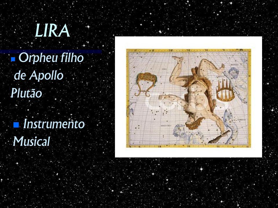 LIRA Orpheu filho de Apollo Plutão Instrumento Musical