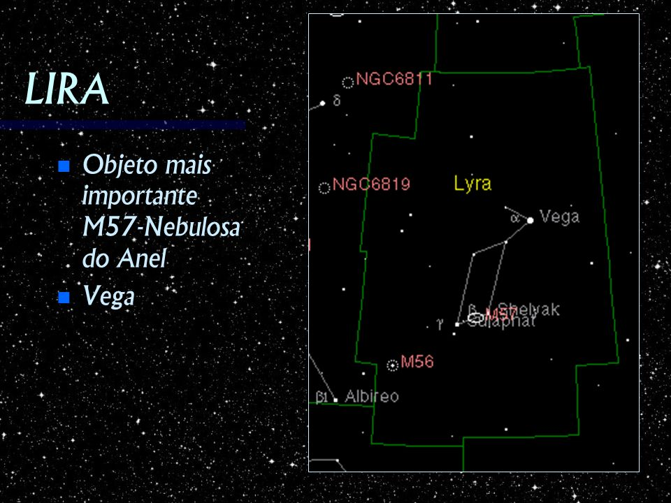 LIRA Objeto mais importante M57-Nebulosa do Anel Vega