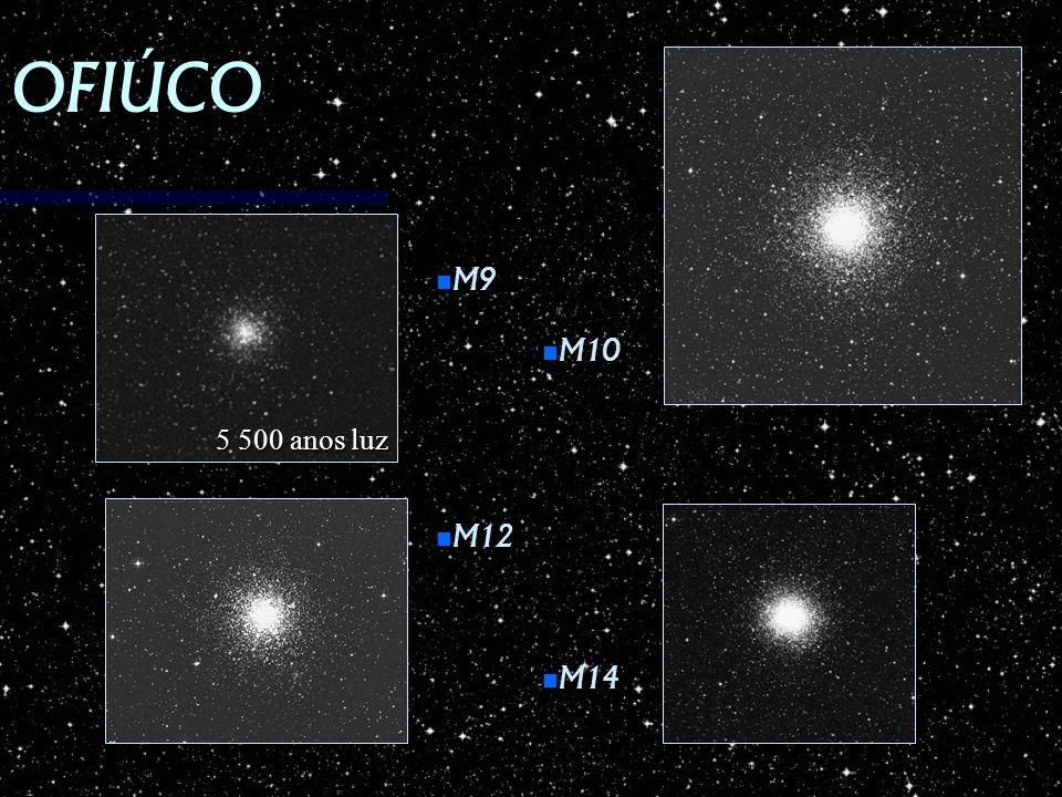 OFIÚCO M9 M10 5 500 anos luz M12 M14