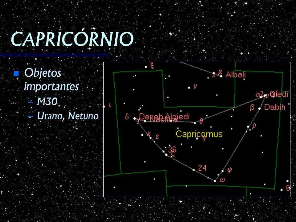 CAPRICÓRNIO Objetos importantes M30 Urano, Netuno