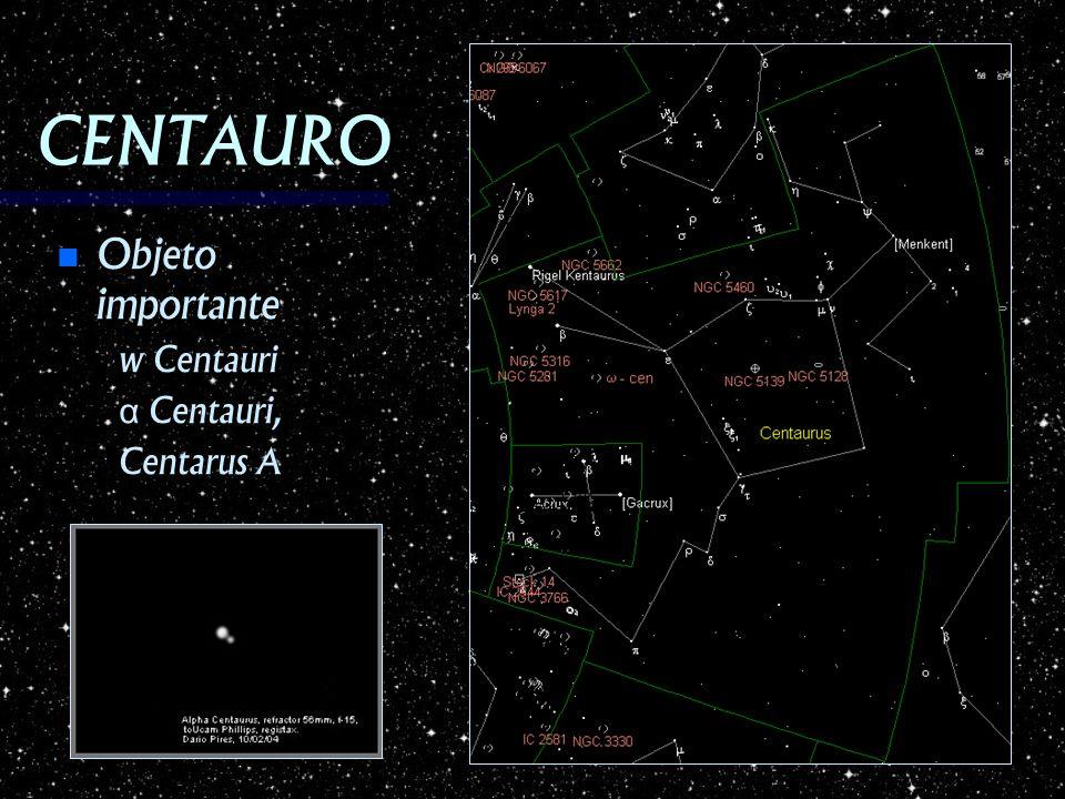 CENTAURO Objeto importante w Centauri α Centauri, Centarus A