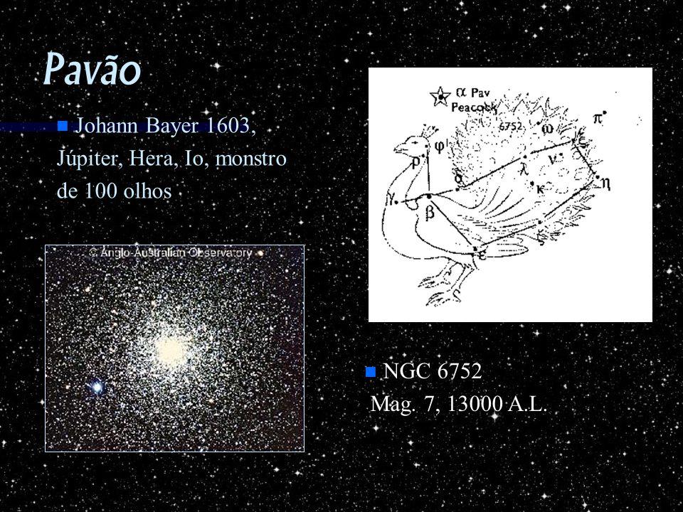 Pavão Johann Bayer 1603, Júpiter, Hera, Io, monstro de 100 olhos