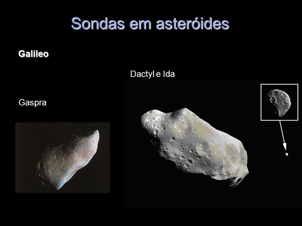 Sondas em asteróides Galileo Dactyl e Ida Gaspra