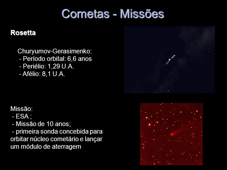 Cometas - Missões Rosetta