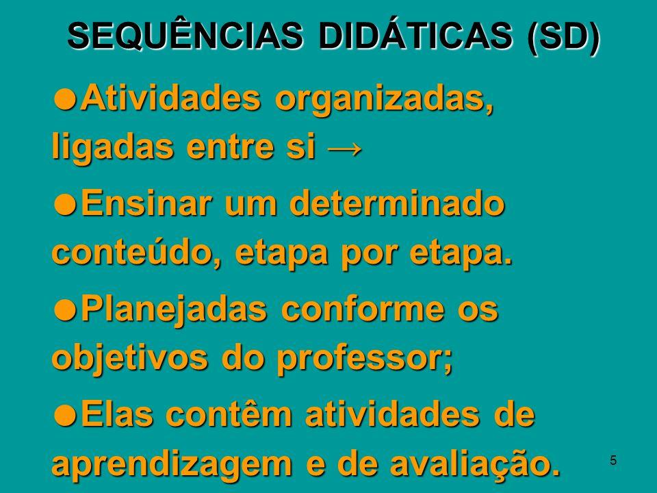 SEQUÊNCIAS DIDÁTICAS (SD)