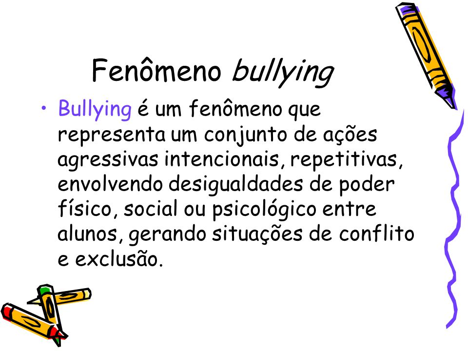 Fenômeno bullying