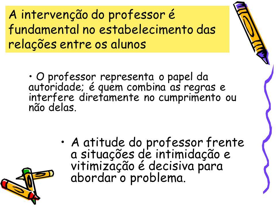 A intervenção do professor é fundamental no estabelecimento das relações entre os alunos