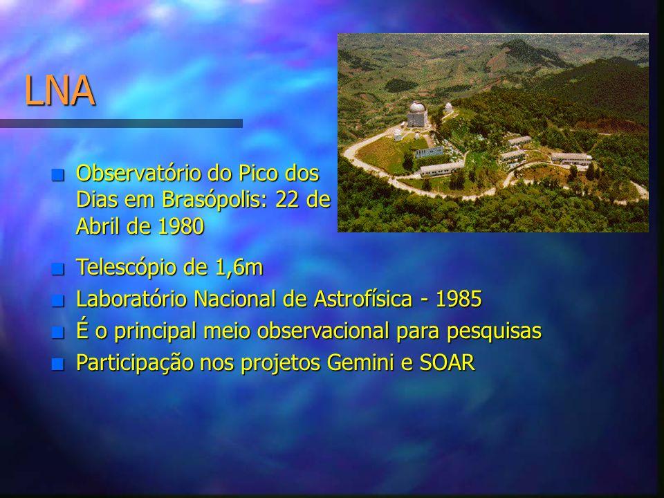 LNA Observatório do Pico dos Dias em Brasópolis: 22 de Abril de 1980