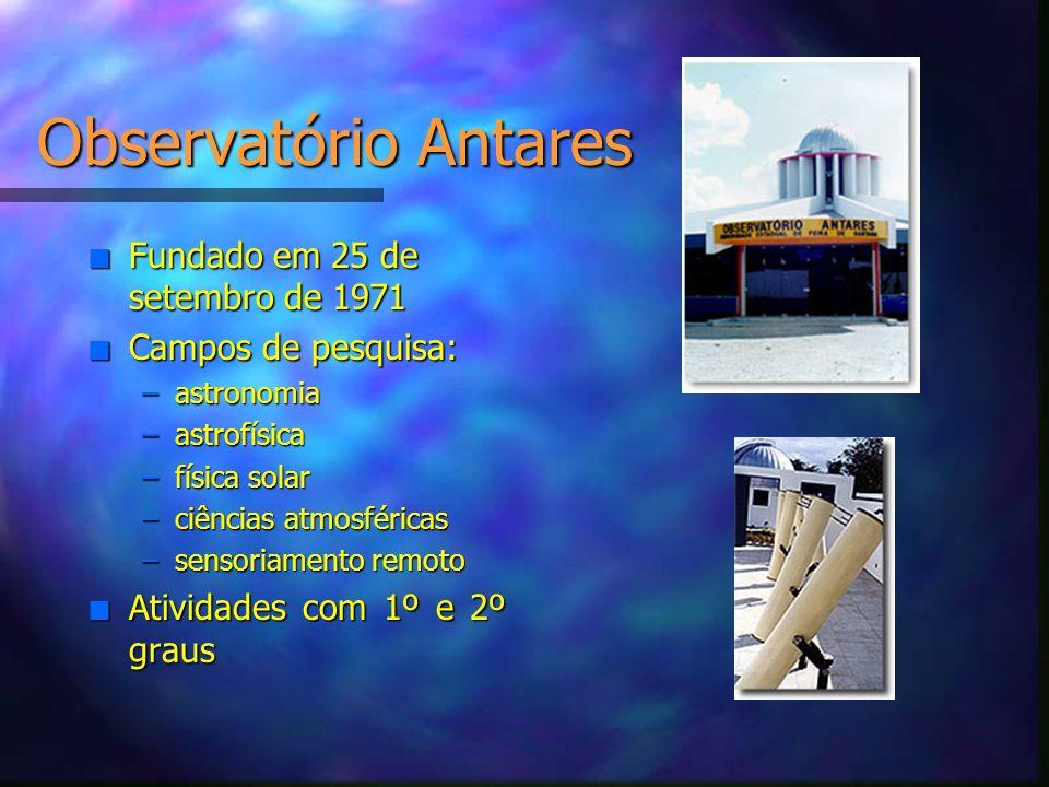 Observatório Antares Fundado em 25 de setembro de 1971