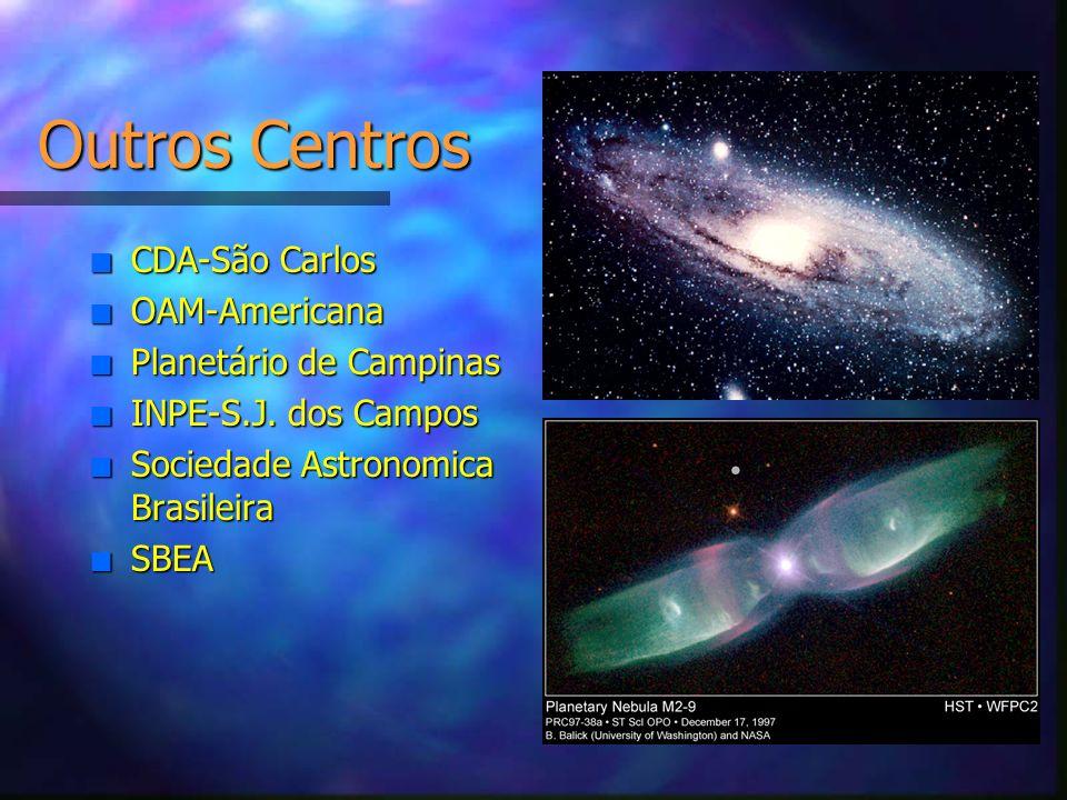 Outros Centros CDA-São Carlos OAM-Americana Planetário de Campinas