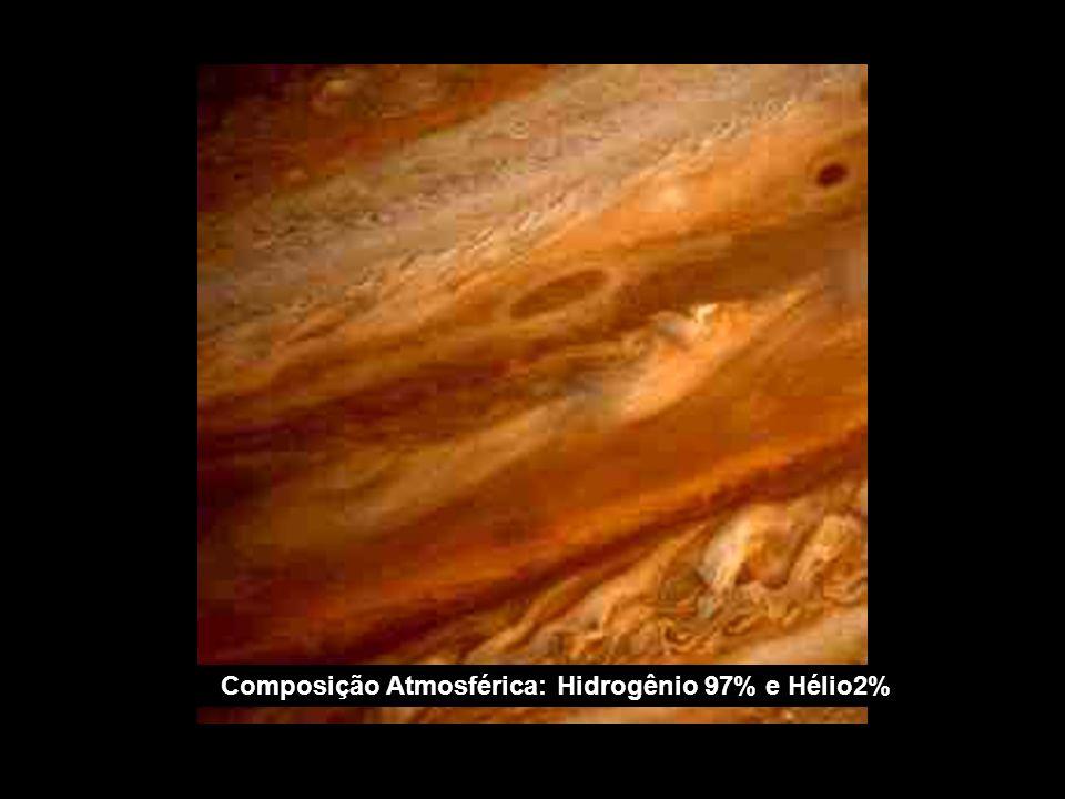 Composição Atmosférica: Hidrogênio 97% e Hélio2%