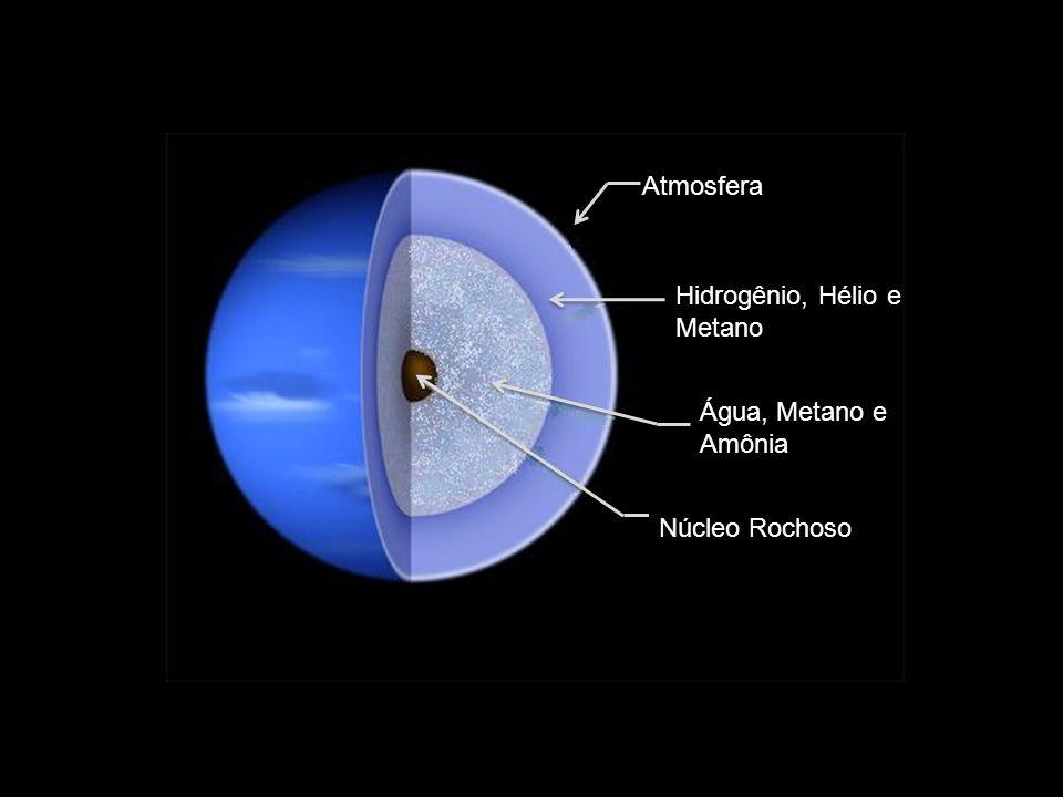 Atmosfera Hidrogênio, Hélio e Metano Água, Metano e Amônia Núcleo Rochoso