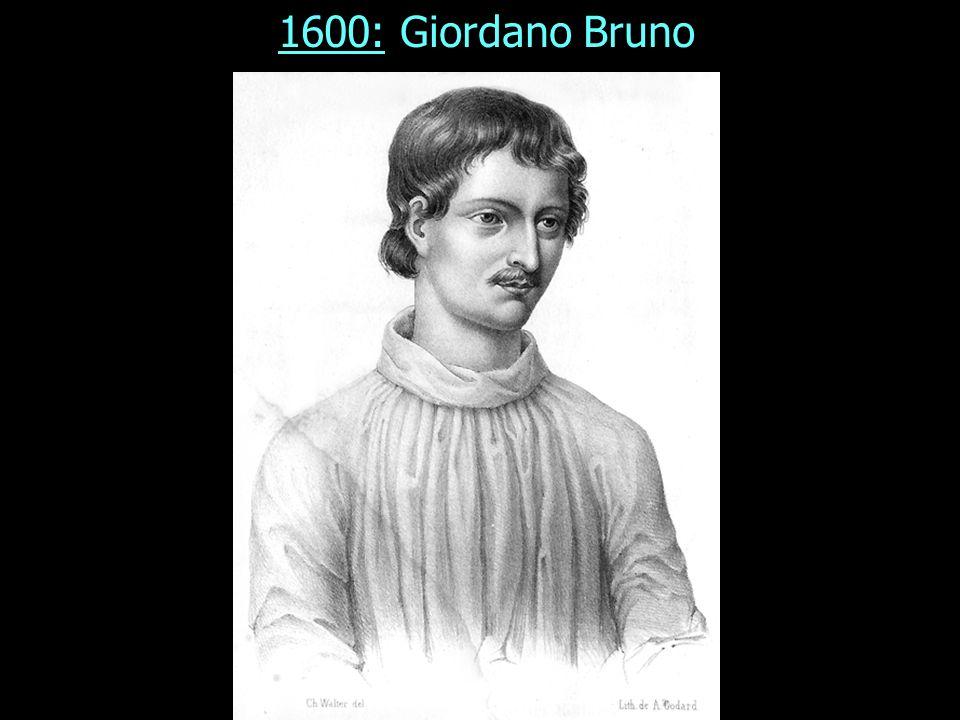 1600: Giordano Bruno