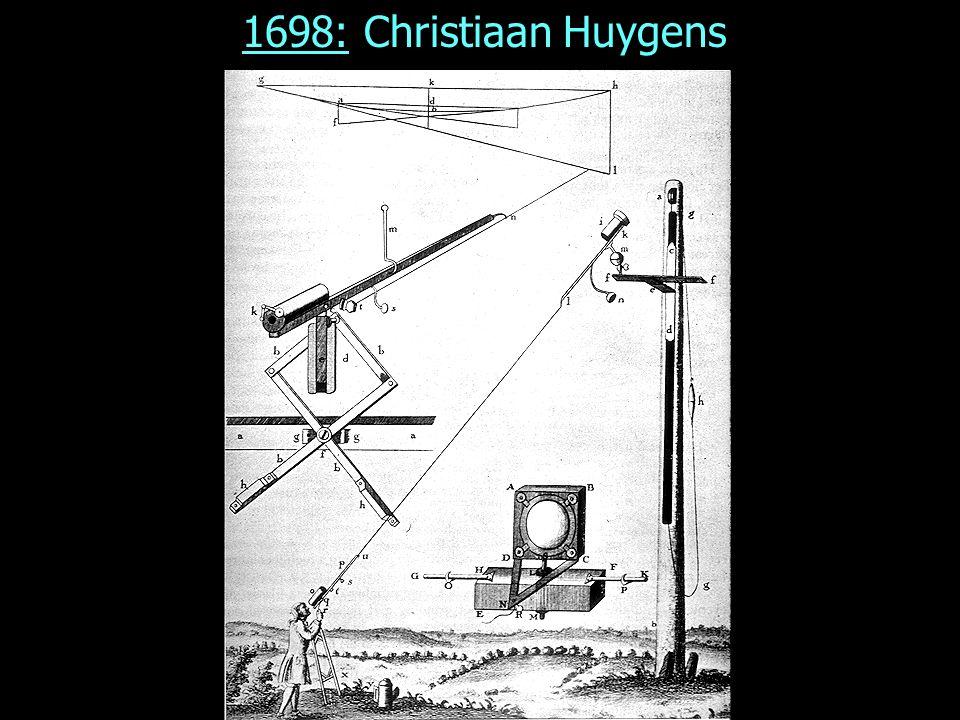 1698: Christiaan Huygens