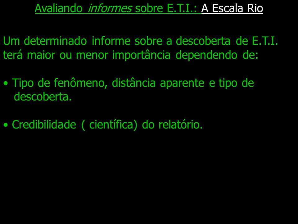 Avaliando informes sobre E.T.I.: A Escala Rio