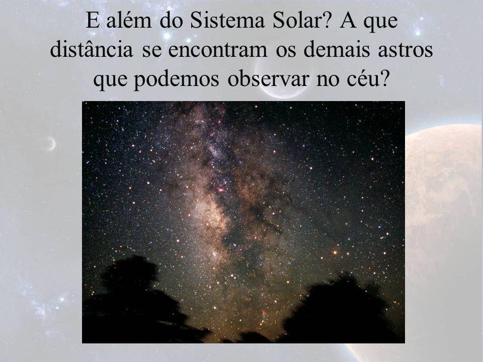 E além do Sistema Solar A que distância se encontram os demais astros que podemos observar no céu