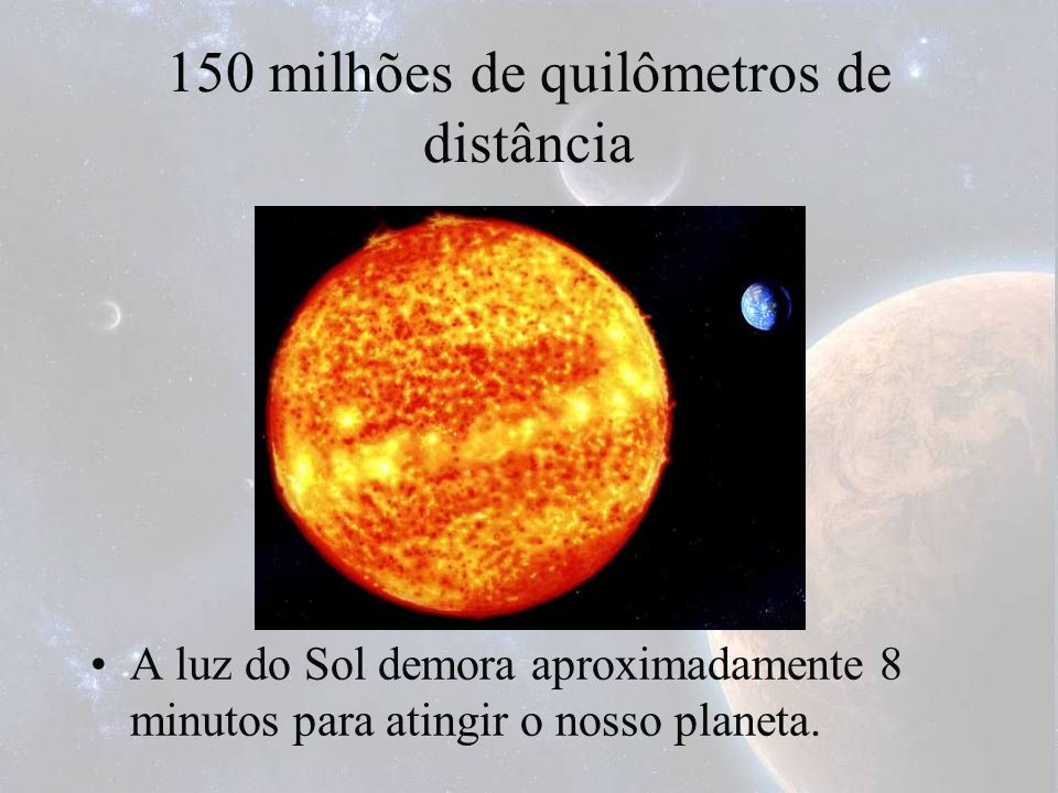 150 milhões de quilômetros de distância