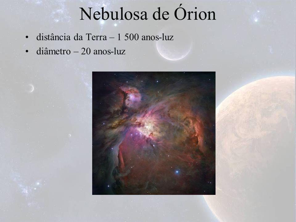 Nebulosa de Órion distância da Terra – 1 500 anos-luz