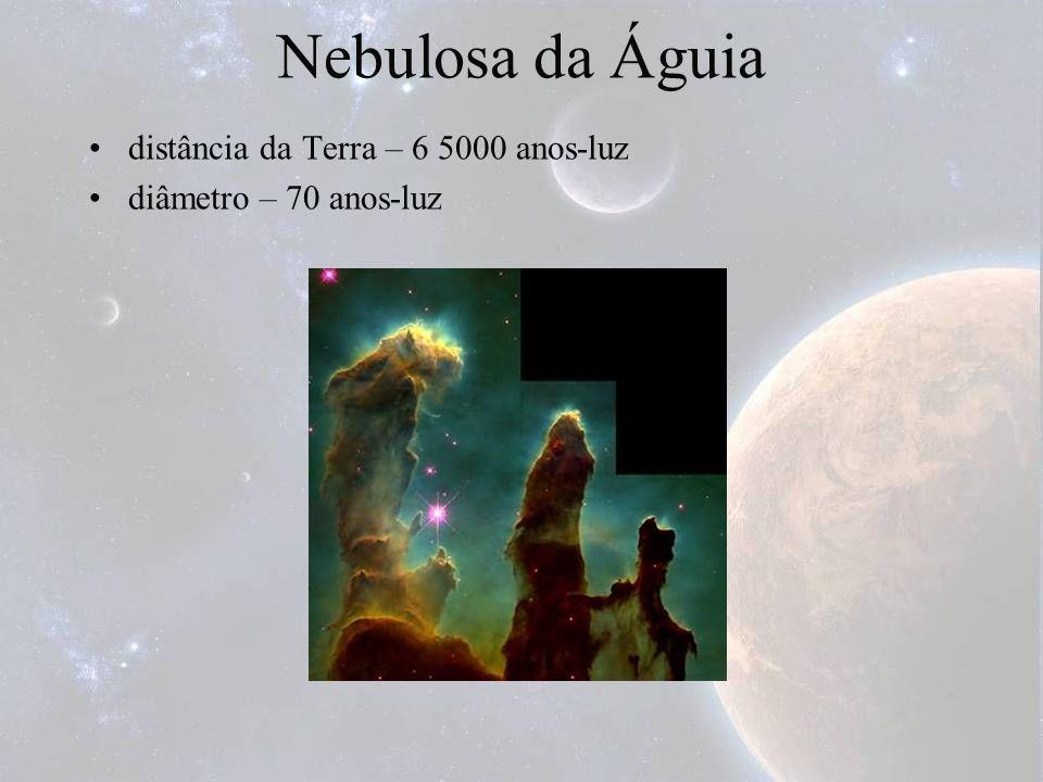 Nebulosa da Águia distância da Terra – 6 5000 anos-luz