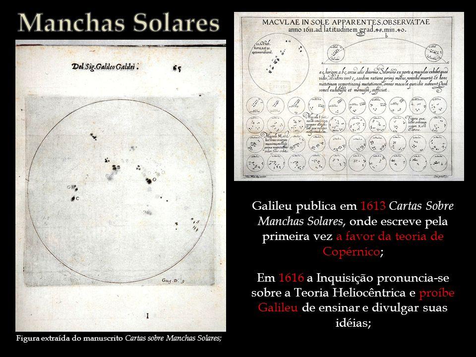 Figura extraída do manuscrito Cartas sobre Manchas Solares;