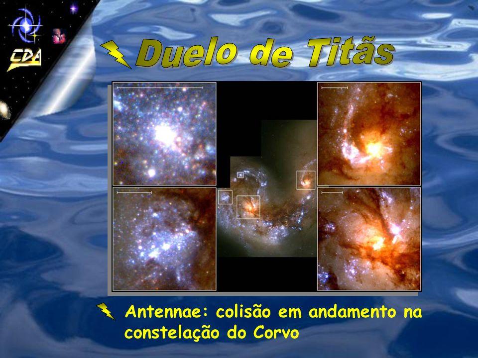 Duelo de Titãs Antennae: colisão em andamento na constelação do Corvo