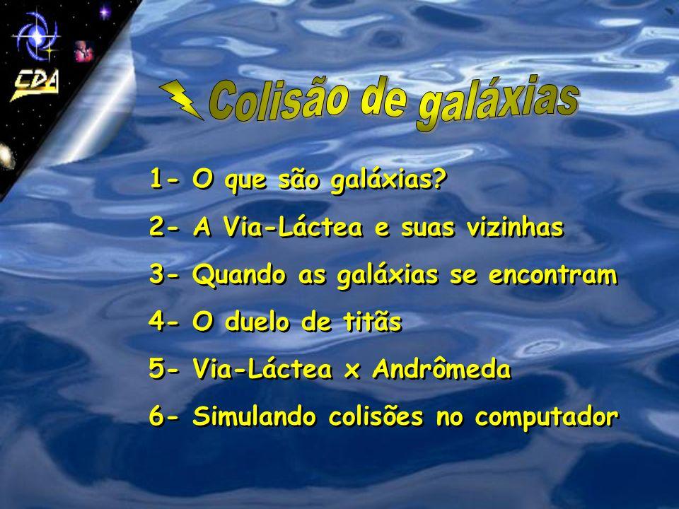 Colisão de galáxias 1- O que são galáxias