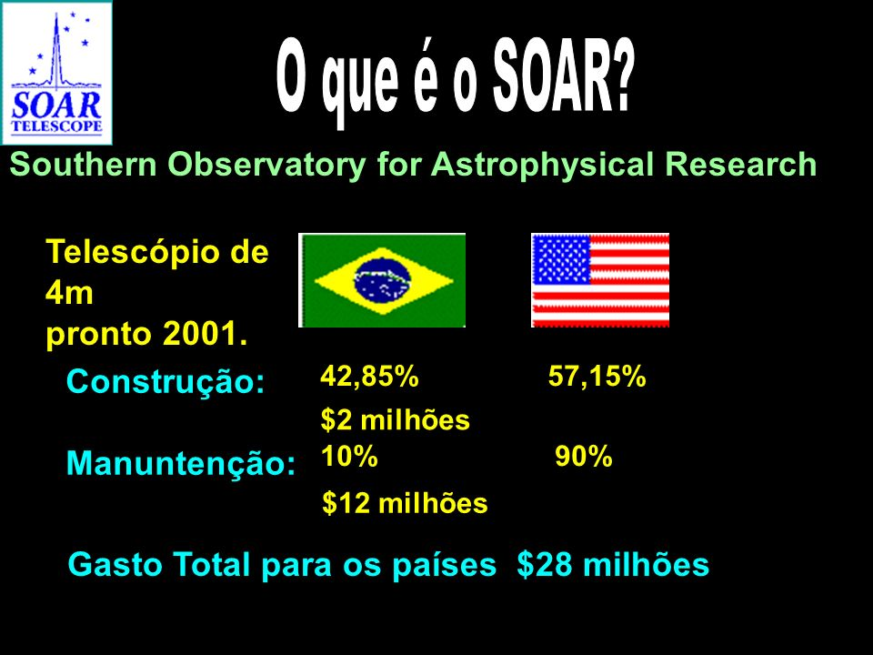 O que é o SOAR Southern Observatory for Astrophysical Research