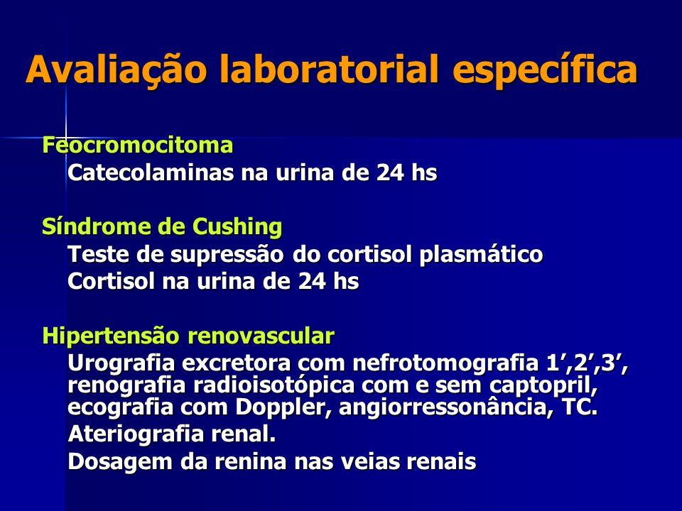 Avaliação laboratorial específica