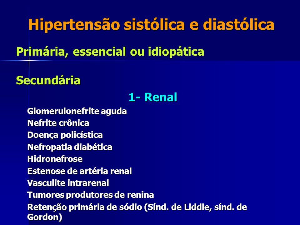 Hipertensão sistólica e diastólica