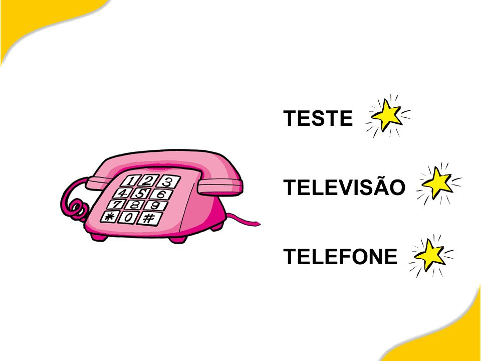 TESTE TELEVISÃO TELEFONE