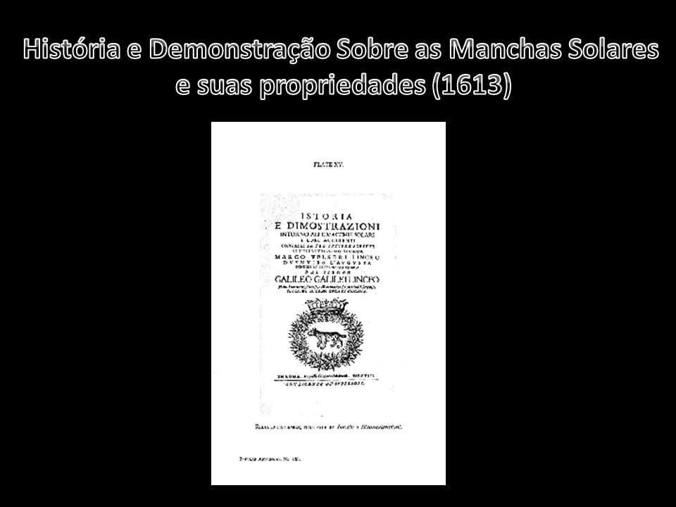 História e Demonstração Sobre as Manchas Solares