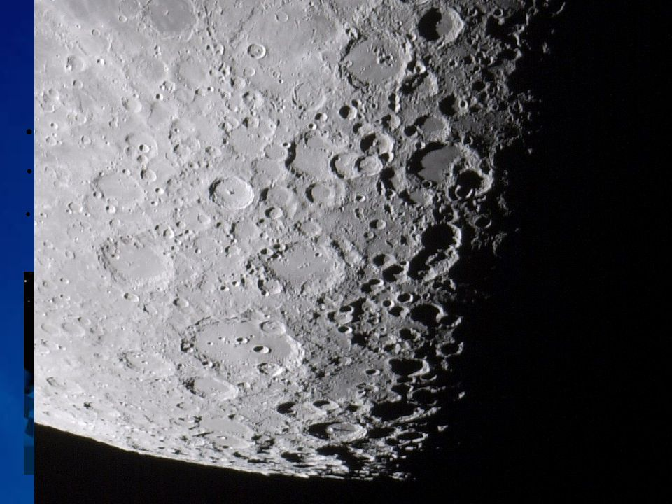 Superfície da Lua Terras altas (highlands) Maria (mares) Regolito