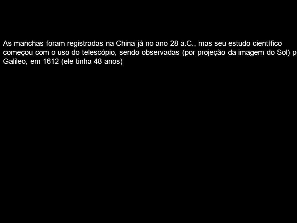 As manchas foram registradas na China já no ano 28 a. C