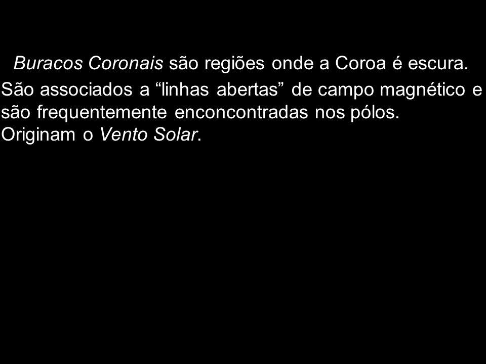 Buracos Coronais são regiões onde a Coroa é escura.