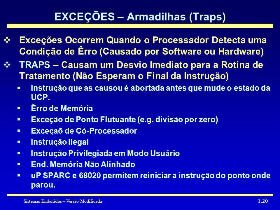 EXCEÇÕES – Armadilhas (Traps)