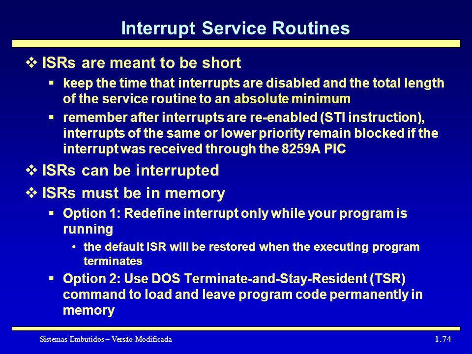 Interrupt Service Routines