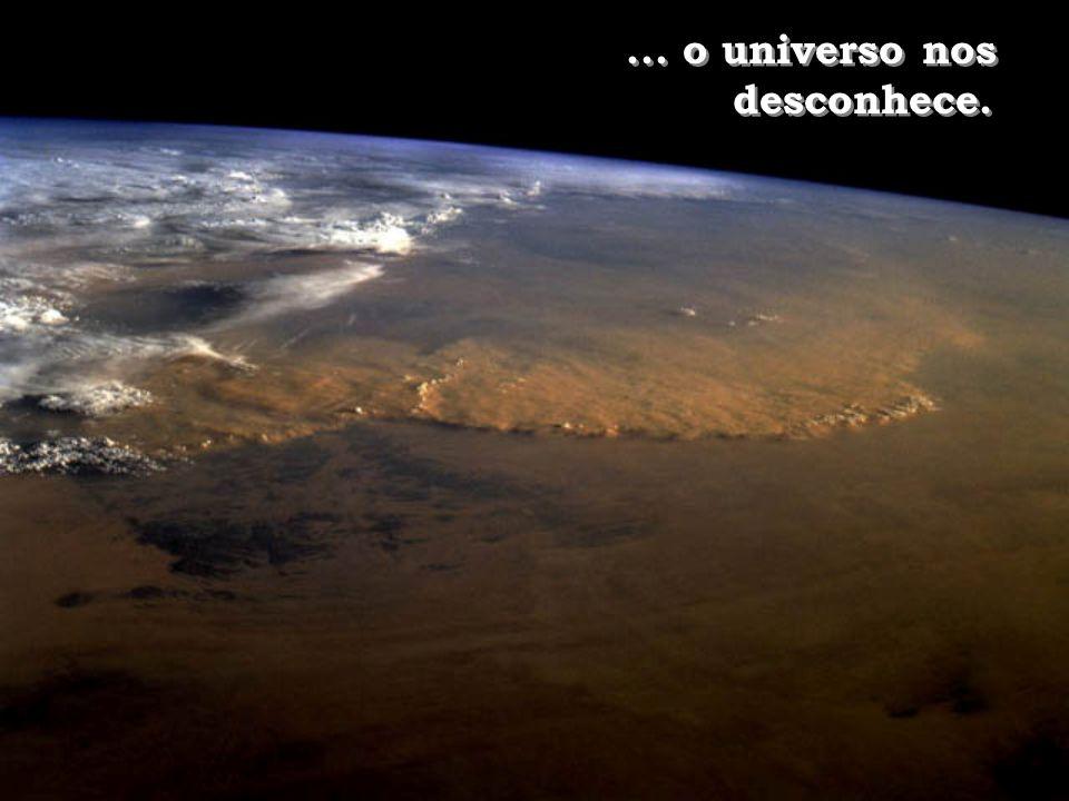 ... o universo nos desconhece.