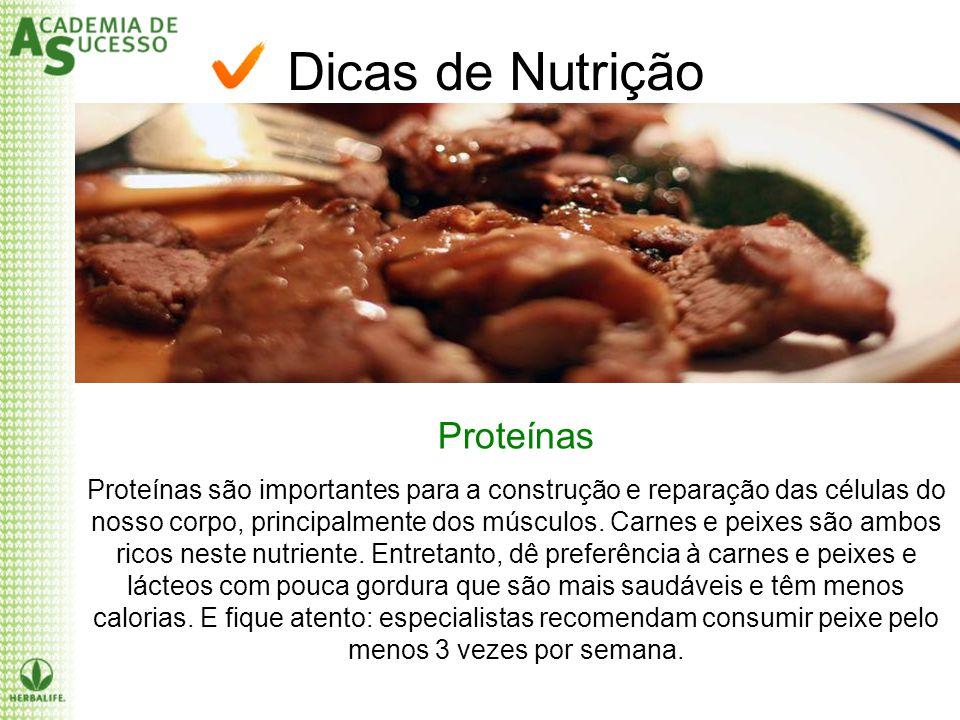 Dicas de Nutrição Proteínas