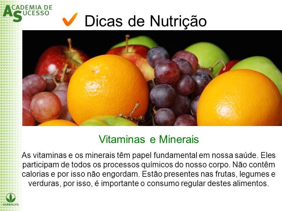 Dicas de Nutrição Vitaminas e Minerais