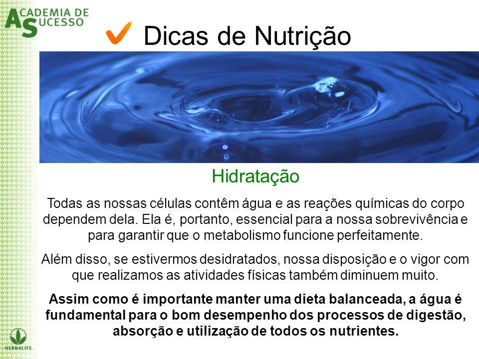 Dicas de Nutrição Hidratação