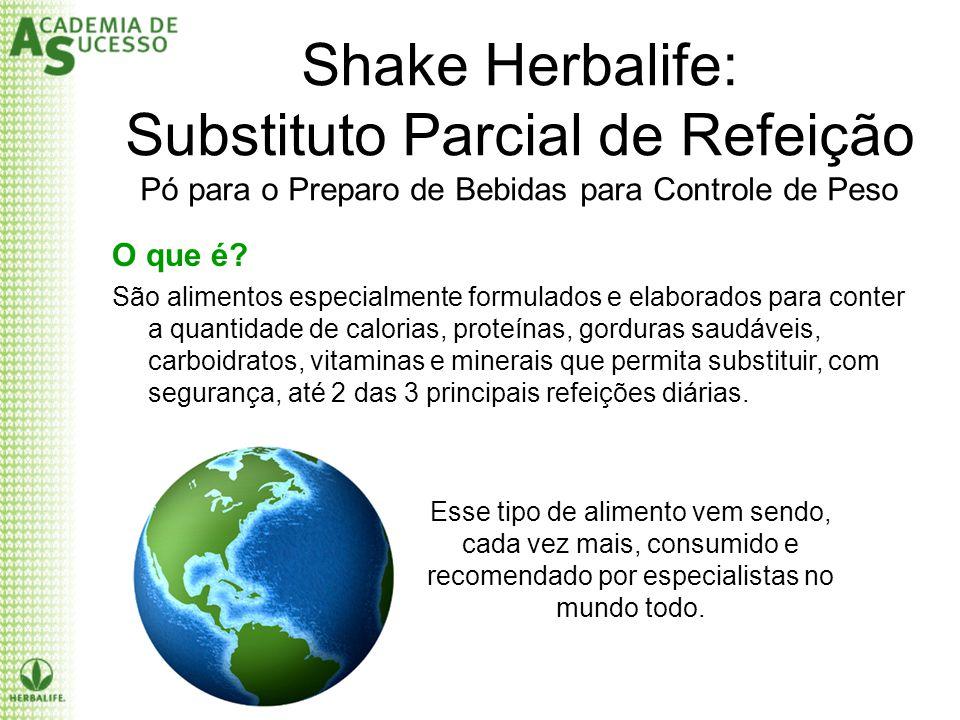 Shake Herbalife: Substituto Parcial de Refeição Pó para o Preparo de Bebidas para Controle de Peso