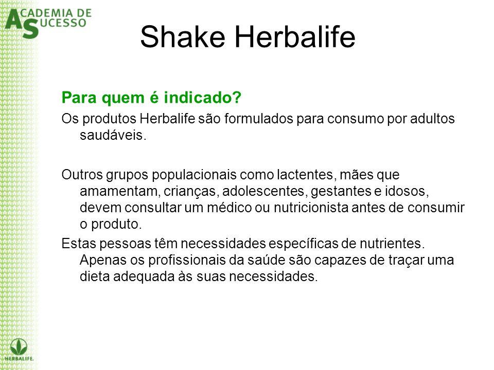 Shake Herbalife Para quem é indicado