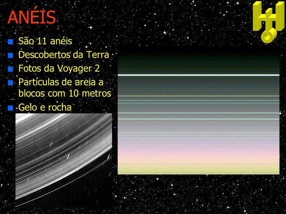 ANÉIS São 11 anéis Descobertos da Terra Fotos da Voyager 2