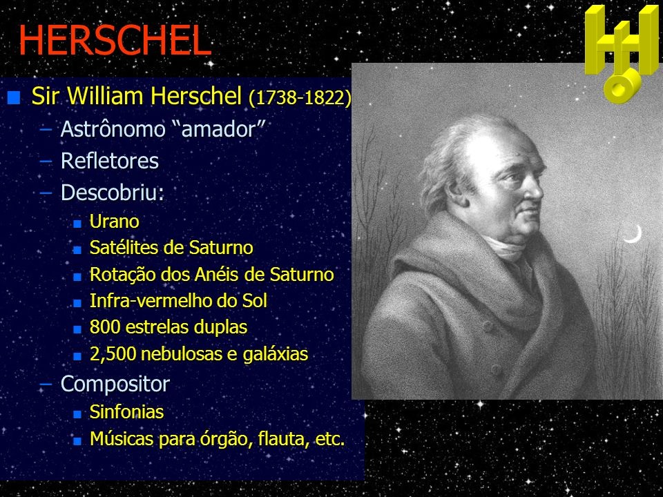 HERSCHEL Sir William Herschel (1738-1822) Astrônomo amador
