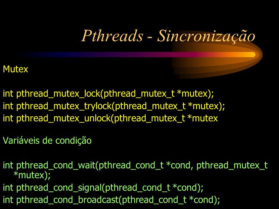 Pthreads - Sincronização