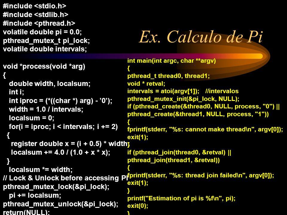 Ex. Calculo de Pi #include <stdio.h> #include <stdlib.h>