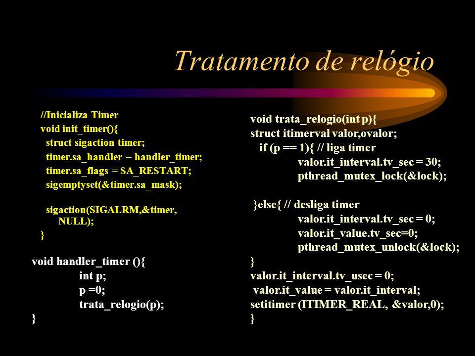 Tratamento de relógio void trata_relogio(int p){